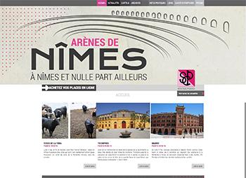création site web des arènes de Nîmes