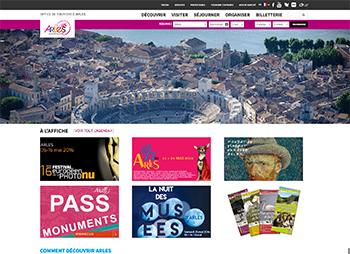 Intégration et développement du site web de l'office de tourisme d'Arles