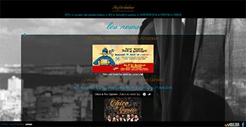 création site web du chanteur - compositeur Jamel Laroussi (au p'tit bonheur)