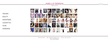 création site web d'Axelle Dersin - Maquilleuse basée à Paris