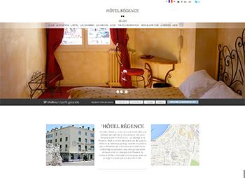 création site web de l'hôtel Régence en Arles