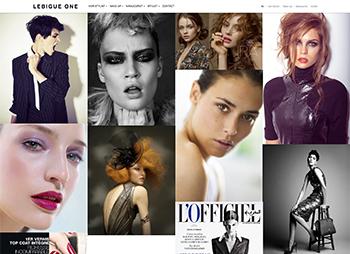 création site web de LebigueOne - agent maquilleur et coiffeur basé à Paris