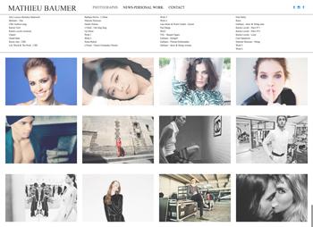 création site web de Mathieu Baumer - photographe basé à Paris