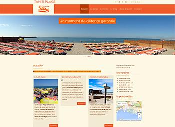 création site web d'une plage privée