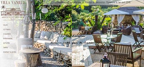 création site web Villa Vanille - maison et chambre d'hôte